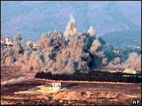 Bombardeo israelí en el sur de Líbano