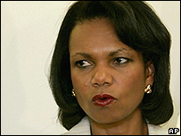 Secretaria Condoleezza Rice.