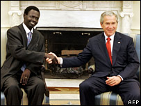 Mr Minni Minnawi and President George W Bush, Tuesday 25 July 2006