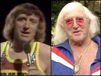 Sir Jimmy Savile, then and now