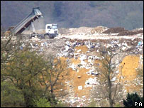 Landfill site at Albury, near Guildford