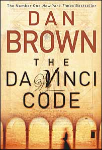 The cover of Dan Brown's book The Da Vinci Code
