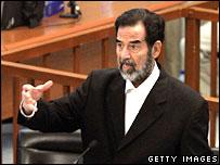 Former Iraqi leader Saddam Hussein