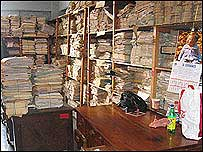 A room full of national police files