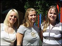 Jenny, Olivia and Zoe