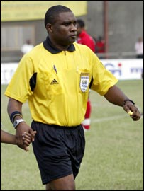 Cameroonian referee Divine Evehe
