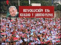 Acto por el 26 de Julio en Cuba