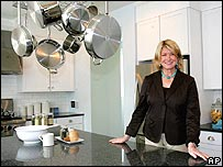 Martha Stewart standing in a kitchen