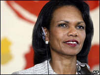 US Secretary of State Condoleezza Rice in Rome