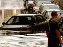Burst water main in Hammersmith