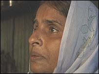 Asha Bai, a slum dweller in Saki Naka