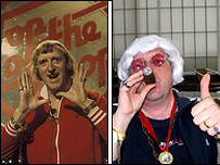 Sir Jimmy Savile and Paul Deacon