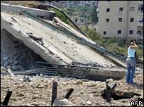 Destroyed Lebanese bridge