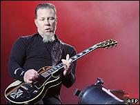 James Hetfield, singer and guitarist of the US band Metallica