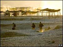 British troops in Sangin, Helmand province