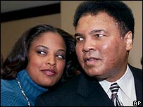 Laila Ali and father Muhammad