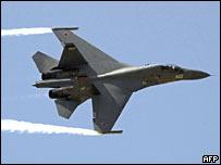 Показательный полет самолета Су-30