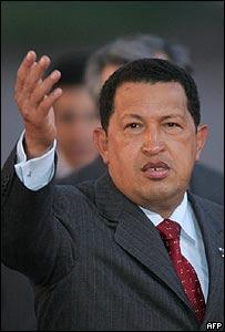 Hugo Chávez de visita en Moscú.