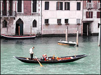 Venice gondola on the Grand Canal
