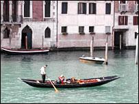 Venice gondola on the Grand Canal