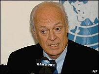 Head of UN delegation to Nepal, Staffan de Mistura