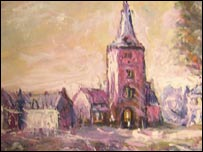 Watercolour thought to be by Adolf Hitler