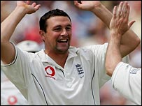 Steve Harmison found his best form on day one at Old Trafford