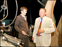 David Tennant and Welsh assembly minister, Andrew Davies