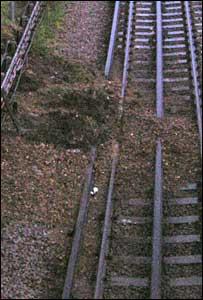 Debris on the track.
