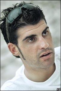 Ciclista espa�ol Oscar Pereiro