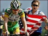Floyd Landis en la etapa 17 del Tour de Francia 2006