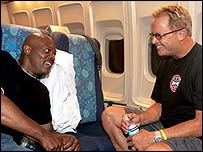 Samuel L Jackson (l) with director David R Ellis