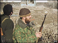 Chechen rebels in Grozny, 2000