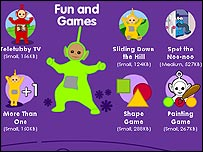 CBBC Teletubbies website