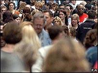 People in high street - generic