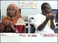 Refugees at the workshop
