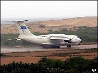 Ilyushin aircraft that landed in Mogadishu