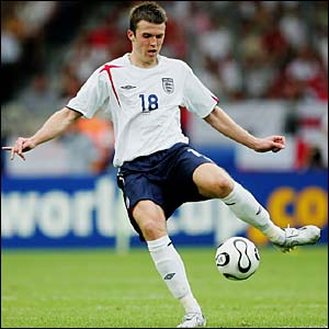 Michael Carrick in action for England