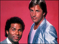 Philip Michael Thomas and Don Johnson in Miami Vice