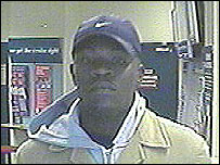 CCTV image of the suspect at Ladbrokes in Croydon