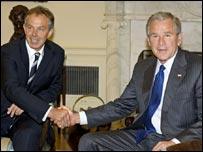Tony Blair and George Bush meet on Friday