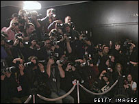 Photographers at a premiere