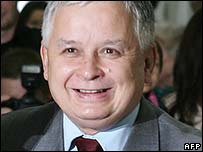 Polish President Lech Kaczynski. File photo