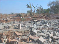 Destroyed township