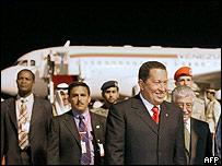 Hugo Chávez en gira por Medio Oriente