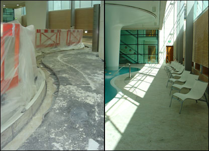 "The main ""Minerva"" pool at Bath's new spa"