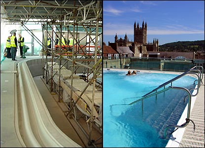 The rooftop pool at Bath's new spa