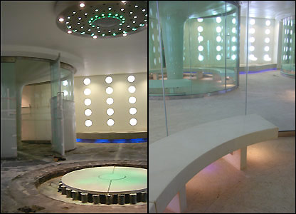 The steam rooms at Bath's new spa complex