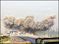 IED explosion (Photo courtesy of Military.com)