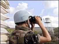 UN peacekeeper in southern Lebanon